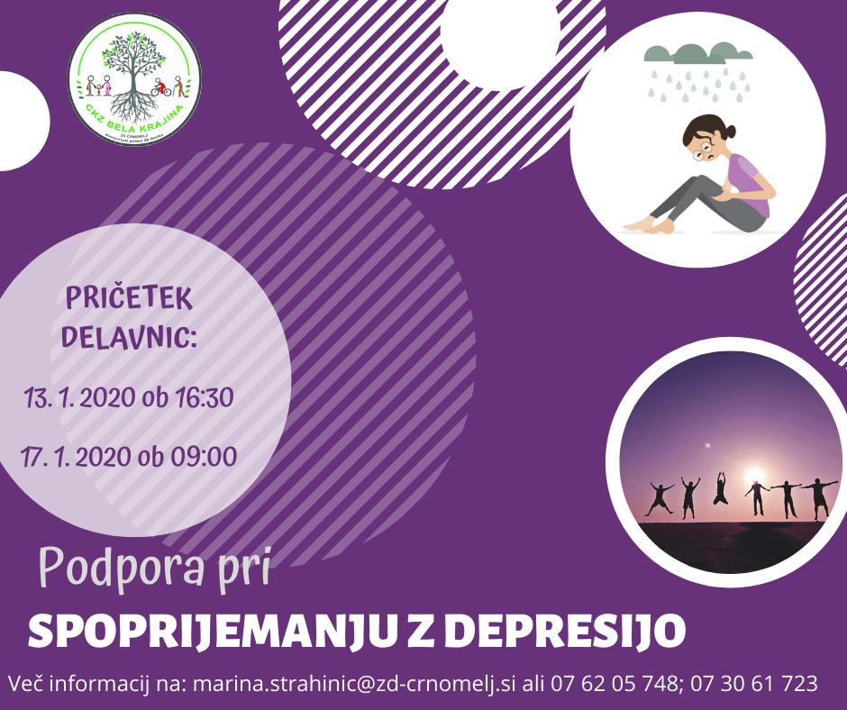 DELAVNICA Podpora pri spoprijemanju z depresijo